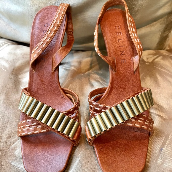 Authentic Celine Stiletto Sandals